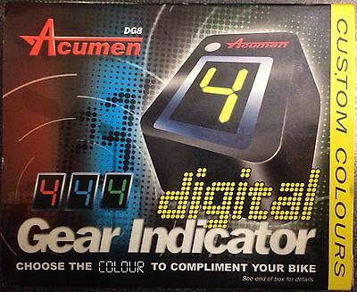 Acumen DG-8 Digital gear indicator contamarce LED rossi red conta marce