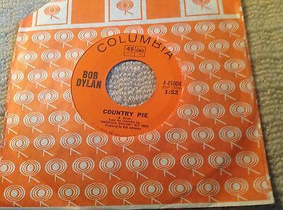 """Sixties Rock 7"""" Deleted single - Bob Dylan - Country Pie - 4 - 45004 (1969) Mint"""