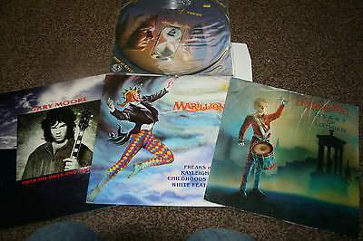 "Marillion Fish Gary Moore 12"" Singles All Tested"