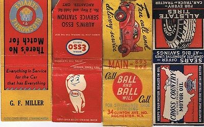 Vintage Advertising Matchbooks - 4 Matchbook Covers - Automotive Related Lot (a)
