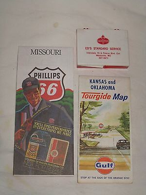 Vintage Standard Oil Box - Phillips 66 Map - Gulf Map - Collectable Advertising
