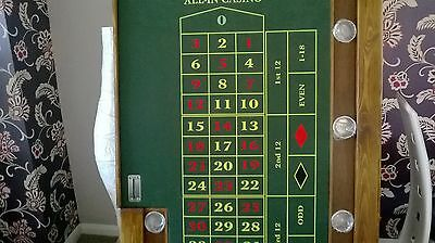 roulette top with wood surround