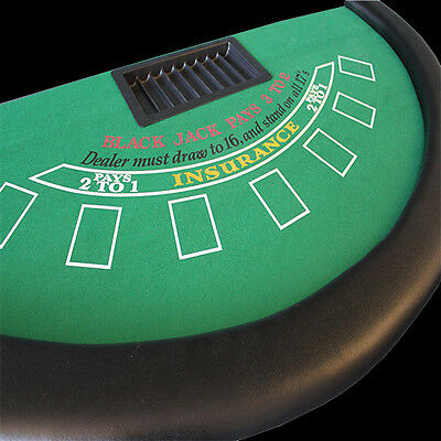 blackjack table top 6ftx3ft  with chip tray and fold down metal legs