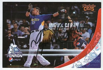 MIGUEL CABRERA SIGNED Postcards AUTOGRAPH rare in play Crown Tigers Detroit 2016