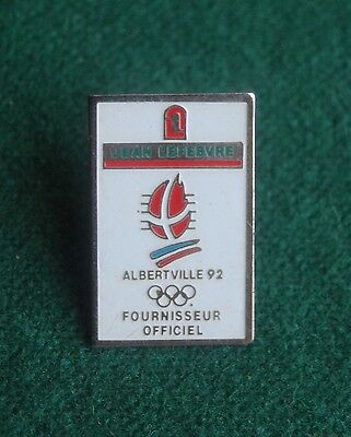 Jean Lefebvre Albertville 92 Olympic Winter Games Pin Badge - Souvenir