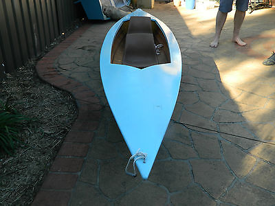 Wooden 4.3 Meter W/ 2 Paddle Canoe For 2 Or 1 H/ Made Sky Blue Pick Up Menai