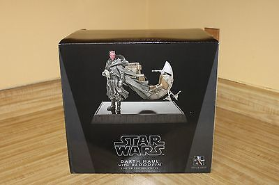 Star Wars Statue Darth Maul with Bloodfin Limited Edition Gentle Giant UNOPENED