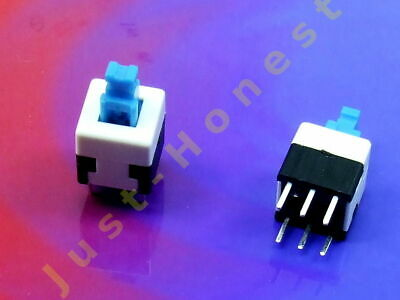 Stk. 2x MINI TASTER Schalter / Momentary Switch 8x8mm THT PCB Push Button  #A695