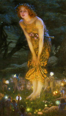 Edward Robert Hughes : Midsummer Eve : Canvas Art Print