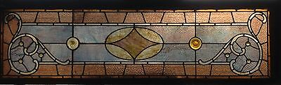 Stained Glass/Jeweled Transom Window