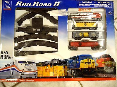 New-Ray - RAILROAD-N Scale SANTA FE C44-9W Die Cast Set.Battery Operated