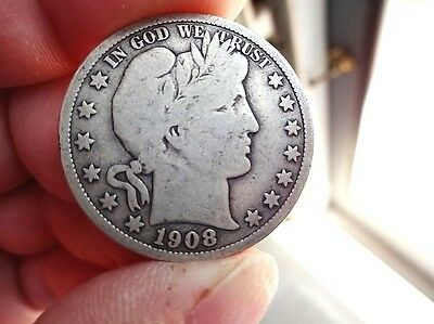 1908-S Very Good Condition BARBER HALF DOLLAR