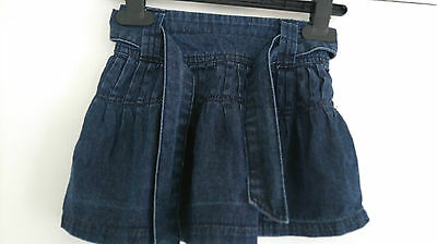 Baby Girls Blue Denim Style Skirt With Tie Belt From Early Days Age 18-24 Months