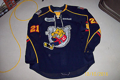 Barrie Colts OHL game worn jersey blue