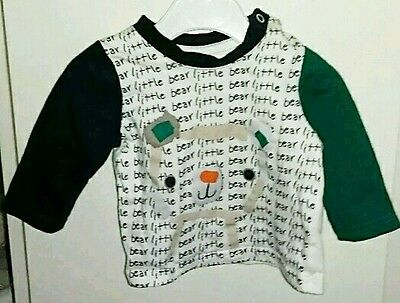 Baby Boys Long Sleeved T Shirt Size 0 - 3 Months