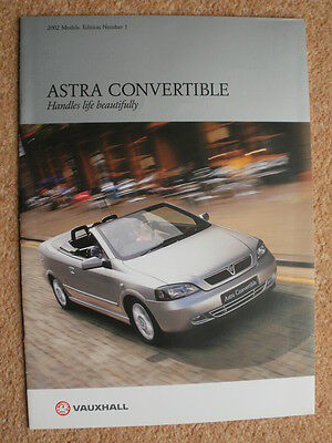 Vauxhall Astra Convertible brochure 2002 Edition 1