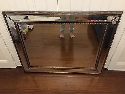 Beautiful Ornate Gold and Bevelled Framed Wall Mirror Vintage/Antique Aesthetic
