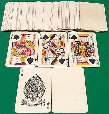 ANTIQUE c1900  GOODALL  WIDE PLAYING CARDS  Linen Grained   Free UK Post