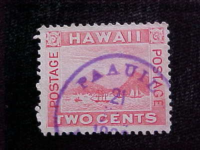 Hawaii: Used #81 Paauilo Town And Date Cancel