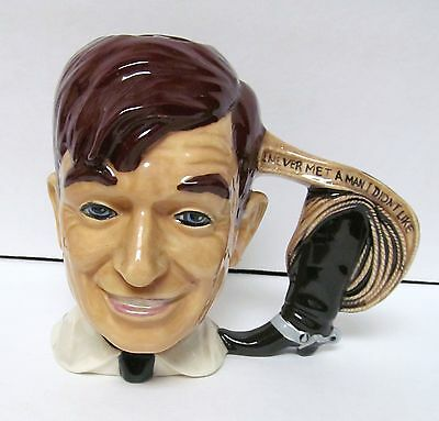 BYRON MOLDS WILL ROGERS 1976 Collectible Cup Mug I NEVER MET A MAN I DIDN'T LIKE