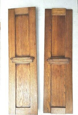 Two Antique Oak Fireplace Columns Posts Architectural Accents