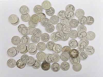 Lot of 72 - 90% Silver Quarters - $18 Face Value - Mixed Dates - FAST SHIPPING!!