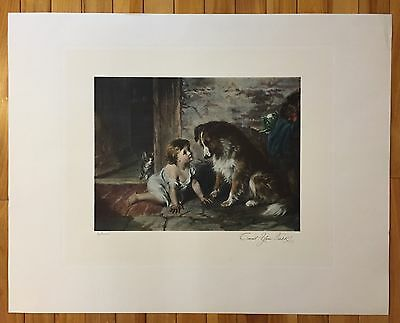 Beautiful CAN'T YOU TALK? George Holmes Quality Print Estate Find 28x22