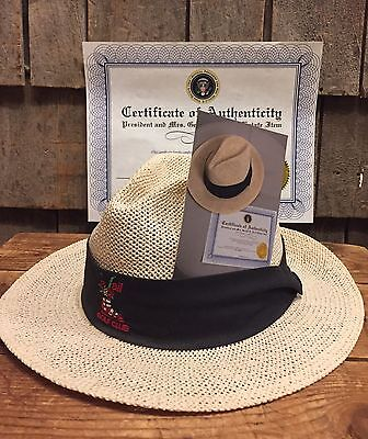 Original US President Gerald Ford Personal Golf Club Straw Hat, Estate With COA