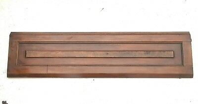 Antique Walnut Header Pediment Architectural Accent Piece