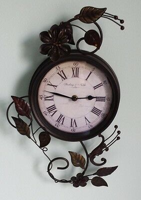 Antique Style Sterlling Noble Sculptured Metal Wall Clock