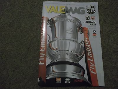 2016/17 Port Vale V Hartlepool United Fa Cup 4Th December 2016 *mint*