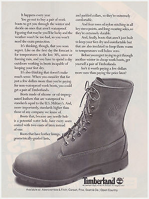 Original 1983 Timberland Boots Vintage Print Ad