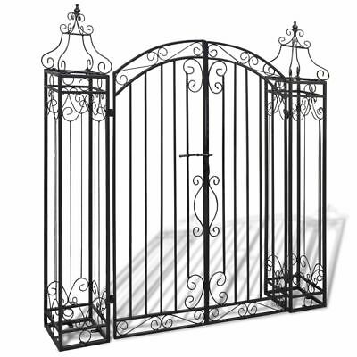New Iron Garden Gate Driveway Entry Entryway Gate Outdoor Yard Fencing Gate Arch