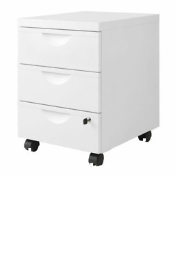 Ikea ERIK Filing/documents 3 Drawers/Cabinet unit,castors & Lock,Office & Home
