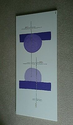 Original abstract art - purple and silver on canvas