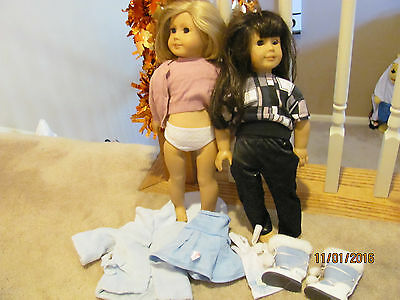 LOT OF 2  American Girl Doll PLEASANT COMPANY DOLLS + EXTRAS