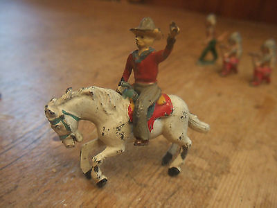 Rare Vintage Charbens Lead Cowboy On Horse