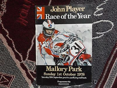 1978 Mallory Park Programme 1/10/78 - John Player Race Of The Year