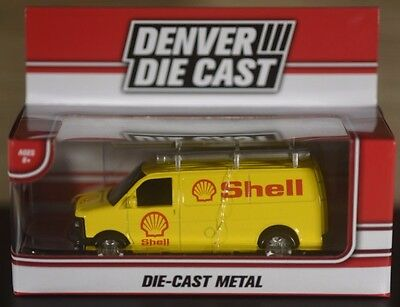 "Shell Gas Station Van Metal Denver Die Cast Fast Shipping 3-5/8"" Long Ships Fast"