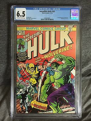 1974 Incredible Hulk 181 CGC 6.5 1st Wolverine Wendigo Marvel Logan Xmen Jackman