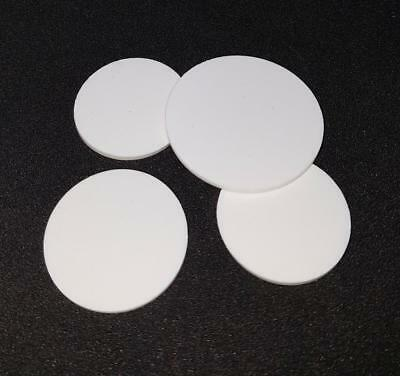 4 x Bespoke Silicone Rubber Disc / Discs 0.5mm thick