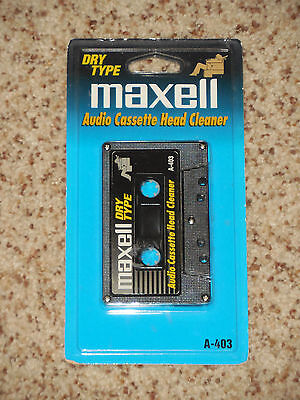 SEALED Maxell Audio Cassette Head Cleaner Dry Type A-403 Cleaning Tape