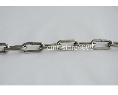 1.2mm 304 Stainless Steel Long Link Chain 3.28ft/1 Meter