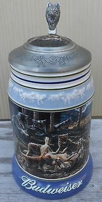 Budweiser The Wolf Pack Series Generations Lidded Beer Stein Anheuser Busch 2001