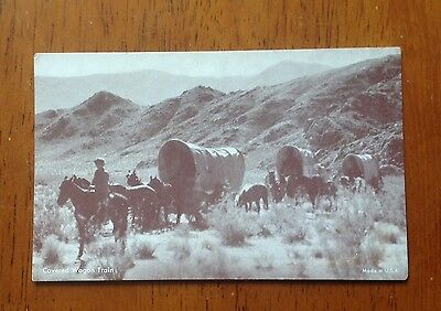 Vintage Mutoscope photo Covered Wagon Train West
