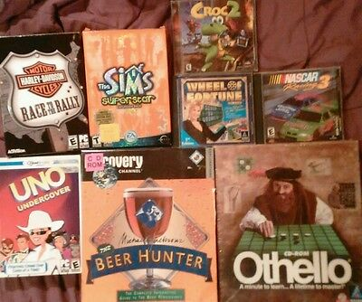 Lot of 8 PC Games Harley Sims Othello Uno