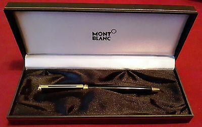 MONTBLANC Ballpoint Pen Black with Gold Tone Accents with Original Box