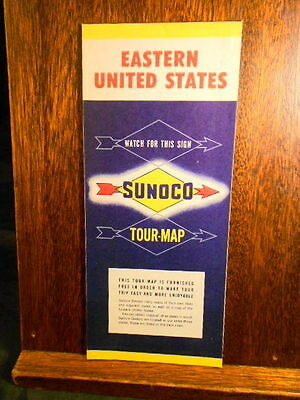 Road Map Gas Station Sunoco gas Eastern United States road map 1958