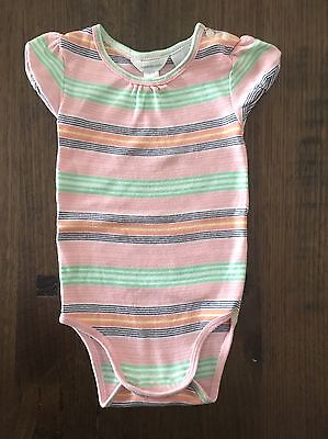 Baby Girls Country Road Coloured Stripe Onesie Size 0