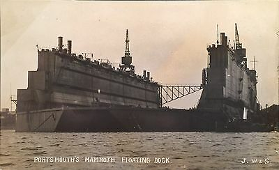 RPPC Portsmouth Virginia Mammoth Floating Ship Dock By J Weich & Sons